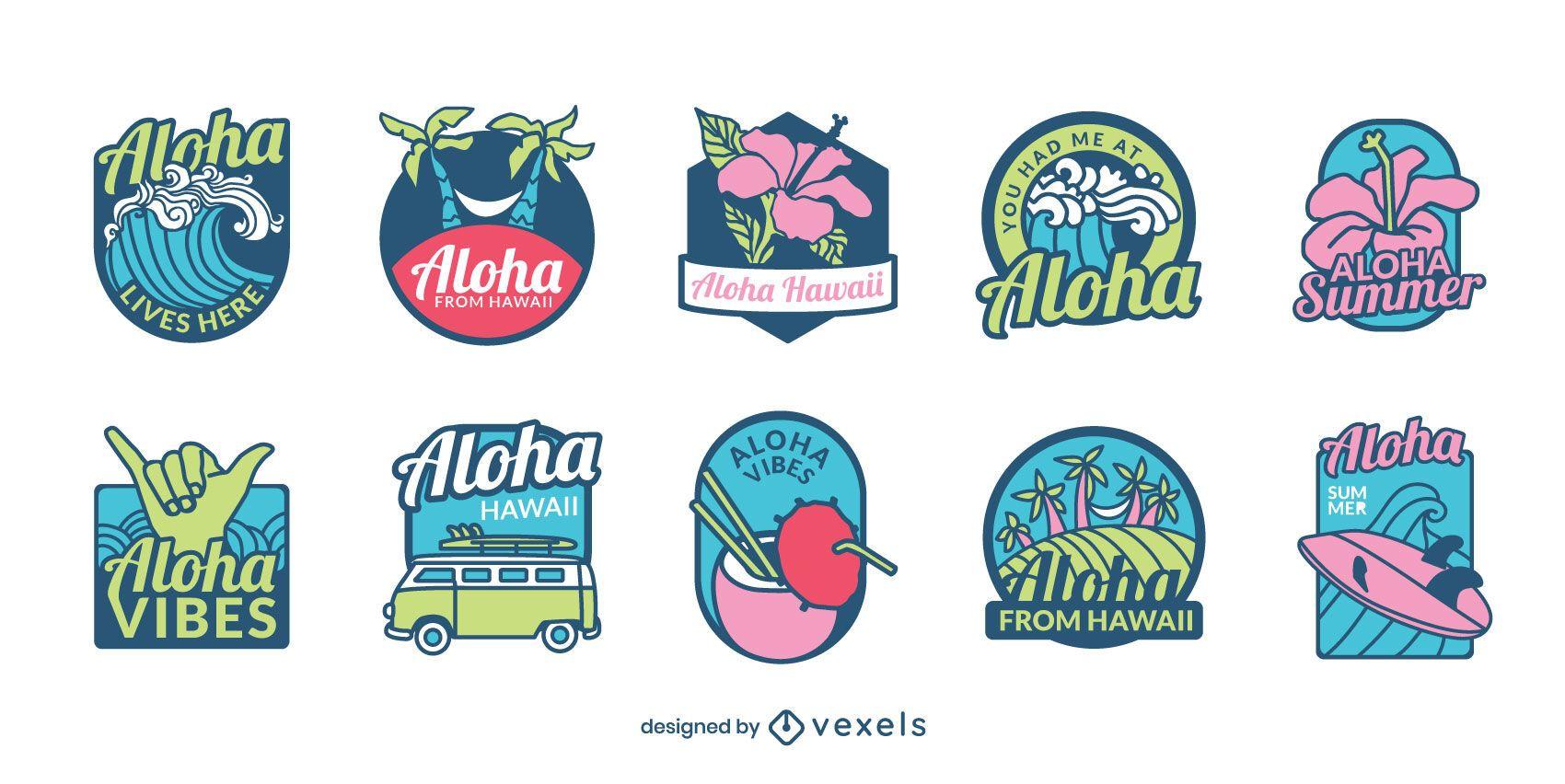 Hawaii badge set