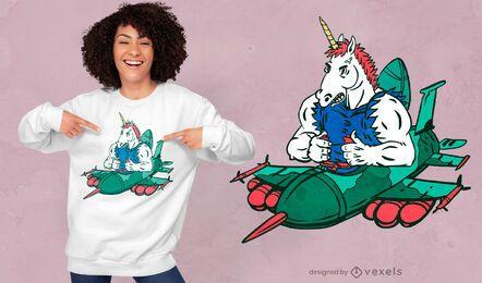 Combat unicorn t-shirt design