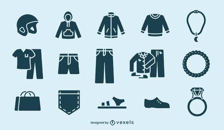 Conjunto de elementos de corte de ropa