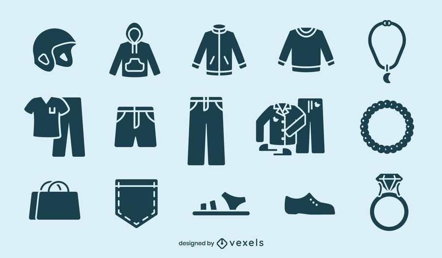 Clothing cut-out element set