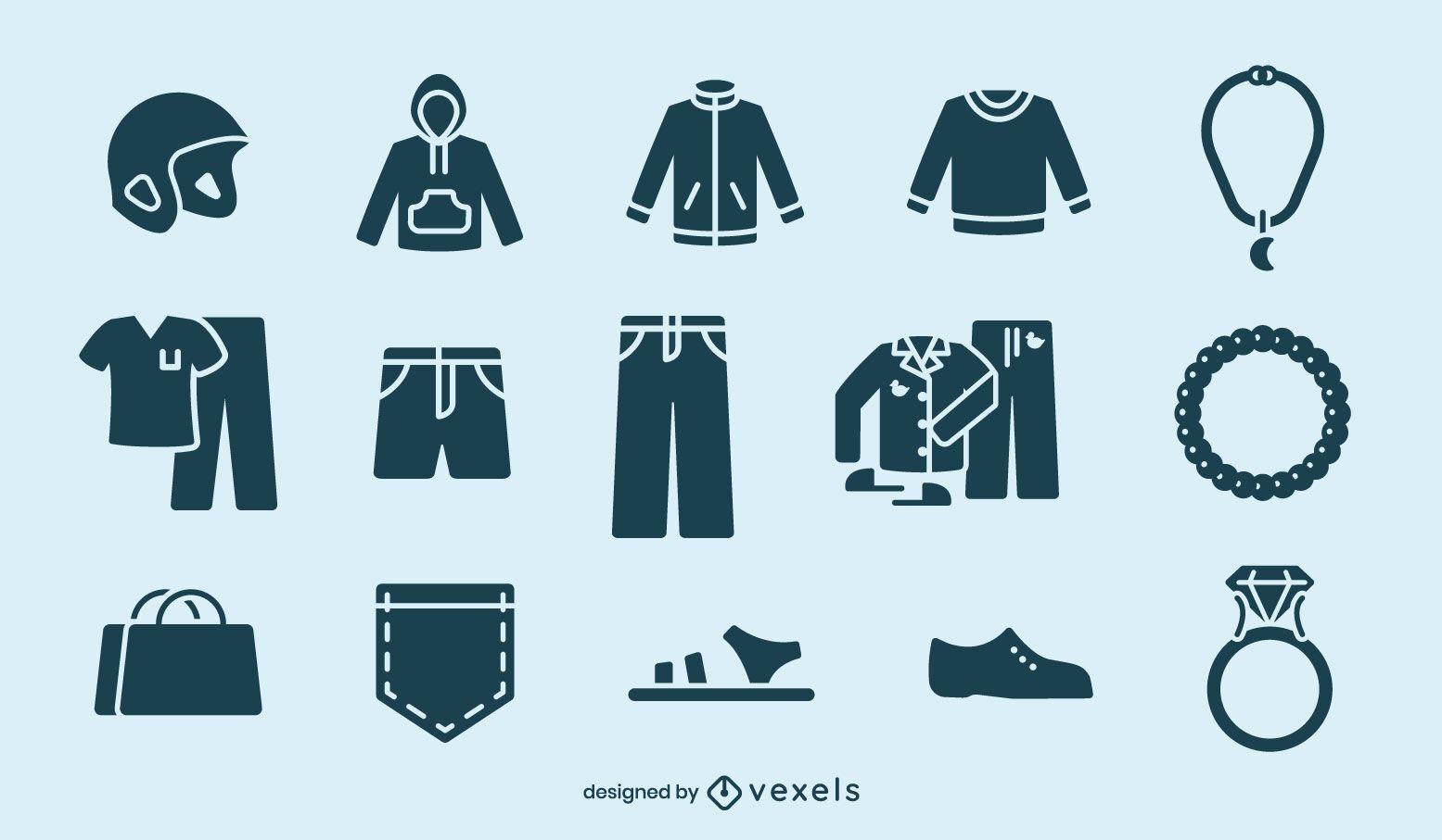 Clothing cut-out element set