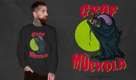 Diseño de camiseta de vampiro mosquito.