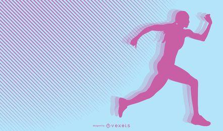 Correr deporte vector 12