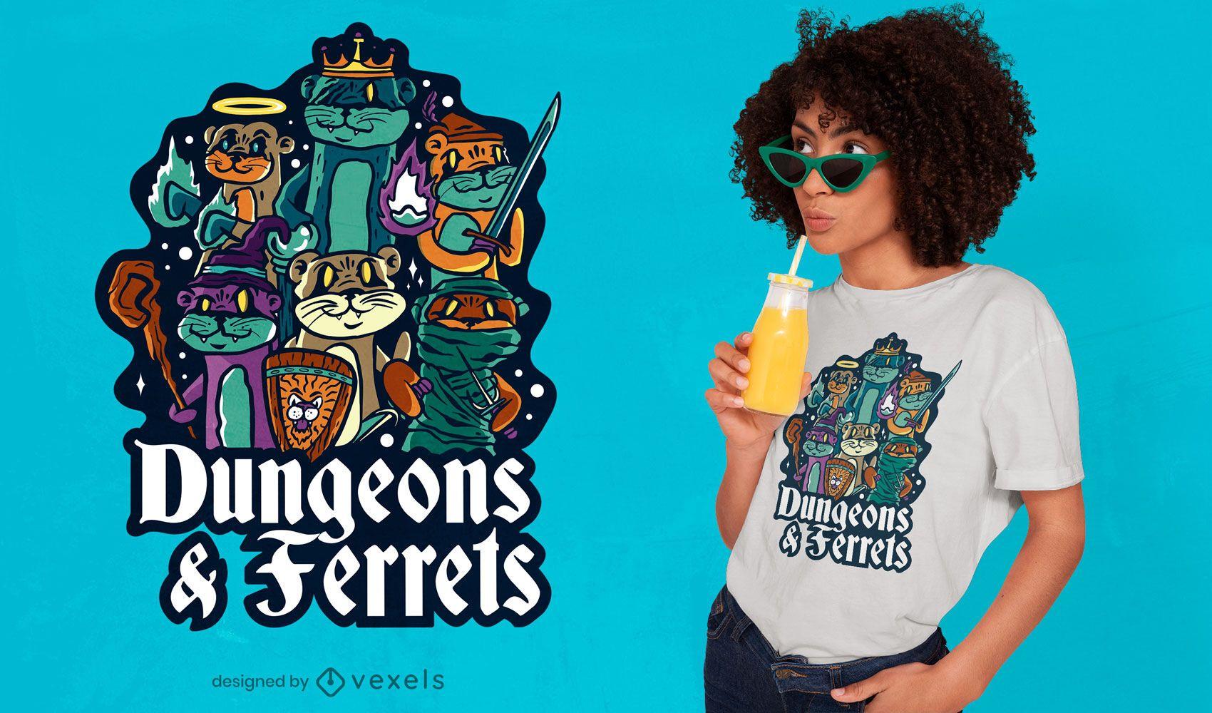 Dise?o de camiseta Dungeon hurones