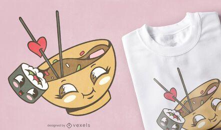 Miso Sushi lieben T-Shirt Design