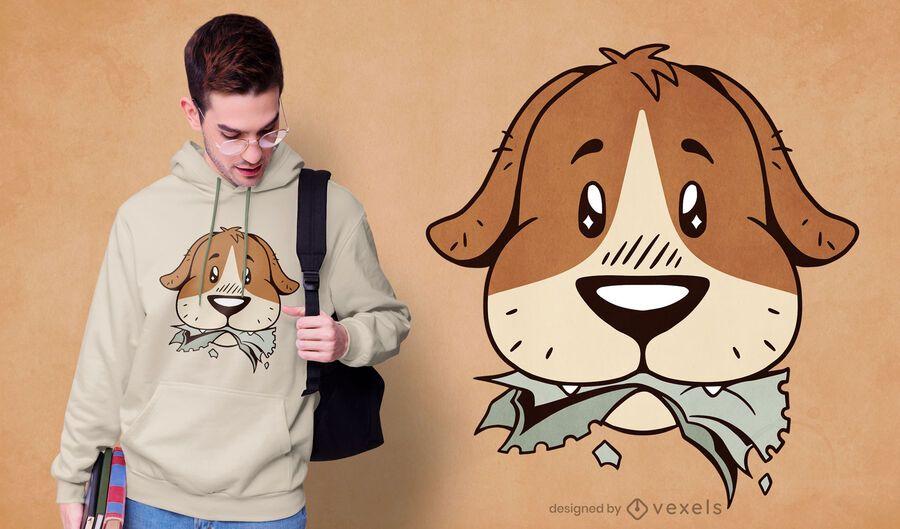 Hund Hausaufgaben T-Shirt Design