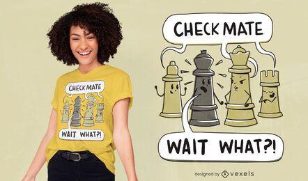 Design de camiseta xadrez xeque-mate