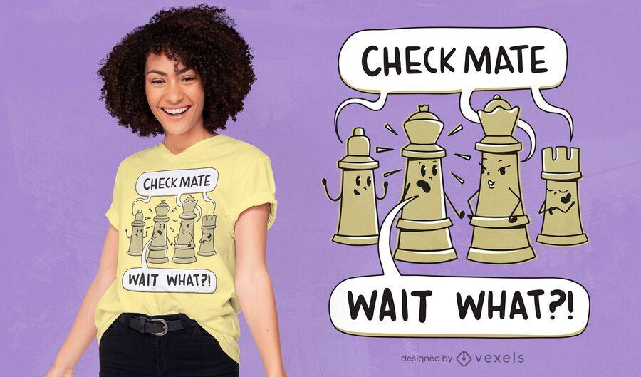 Checkmate chess t-shirt design