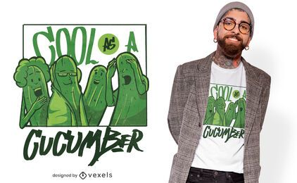 Cool cucumbers t-shirt design