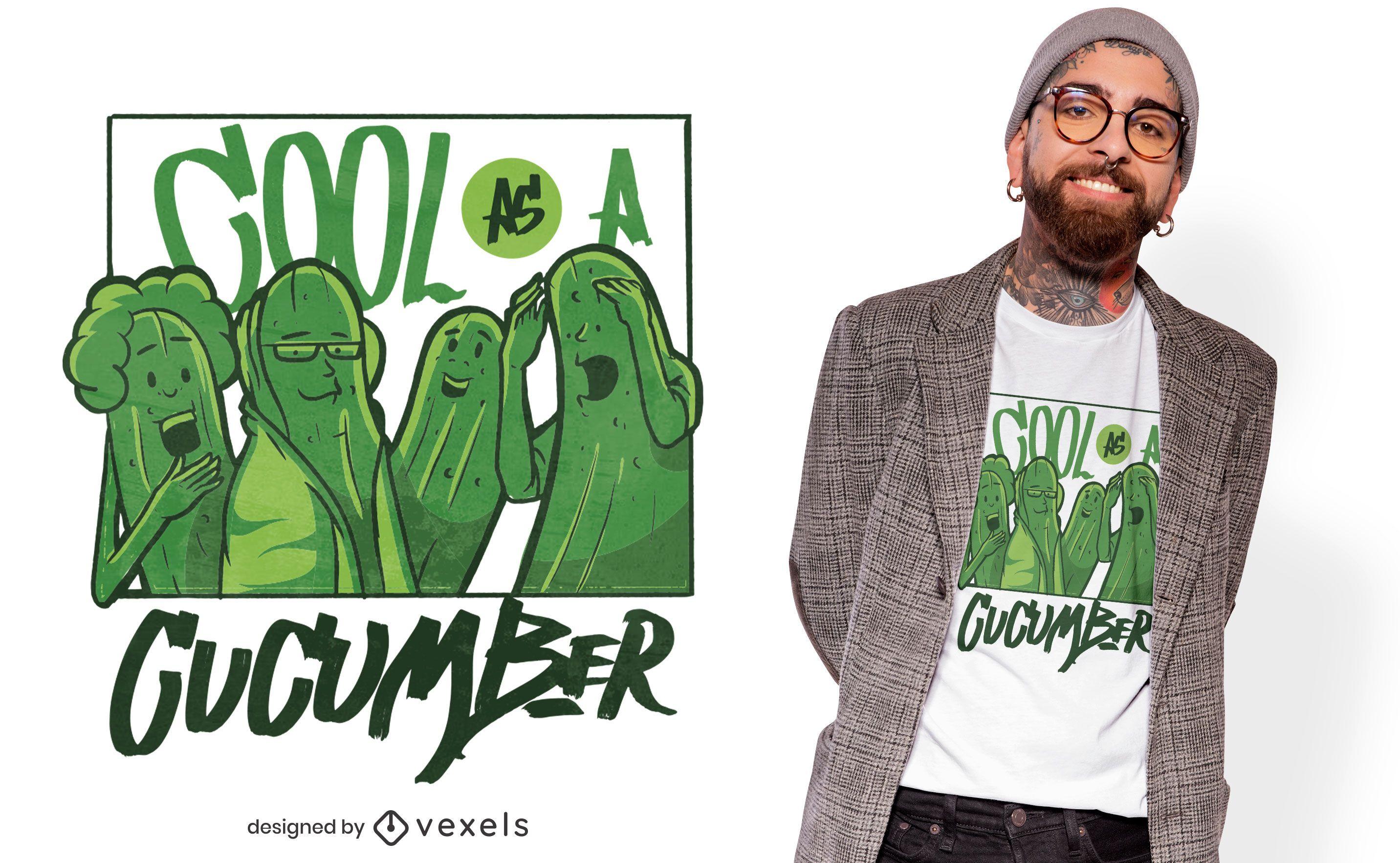 Cool cucumbers t-shirt design