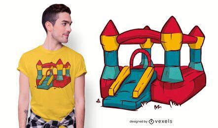 Diseño de camiseta de castillo hinchable