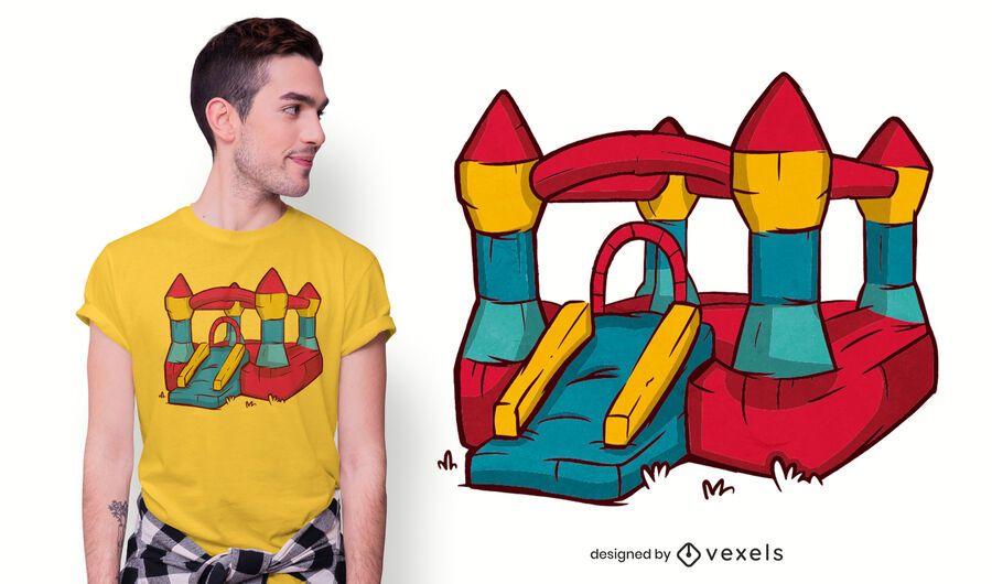 Bouncy castle t-shirt design