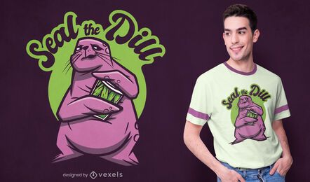 Seal the dill t-shirt design