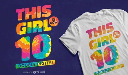 Design de camiseta de dois dígitos
