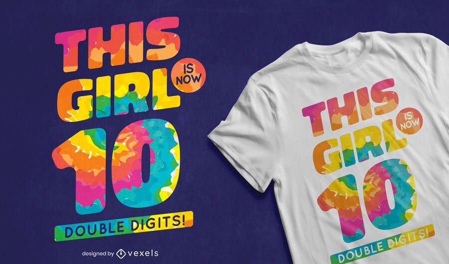 Double digits t-shirt design