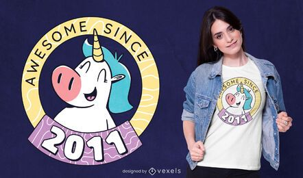 Awesome unicorn t-shirt design