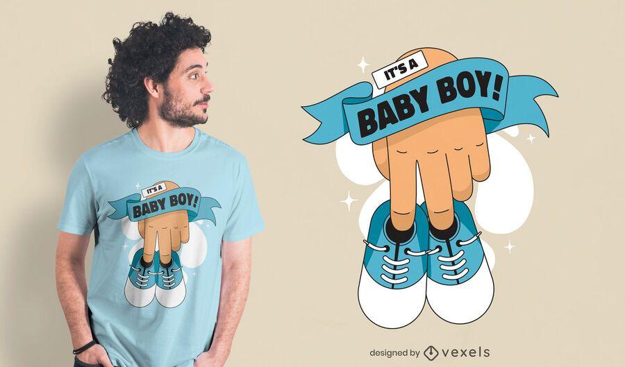 Baby boy shoes t-shirt design