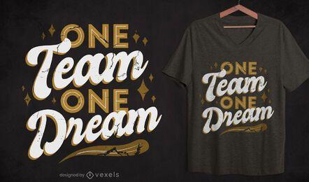 Diseño de camiseta de cita de equipo