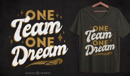 Team quote t-shirt design