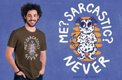 Sarcastic dalmatian t-shirt design