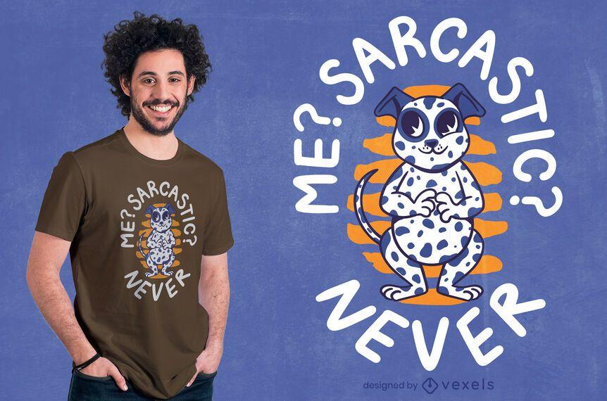 Diseño de camiseta dálmata sarcástico.