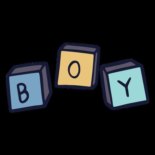 Niño de bloques de juguete