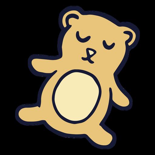 Sleepy teddy bear flat Transparent PNG