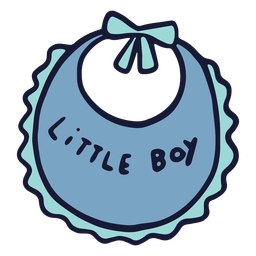 Little boy bib flat