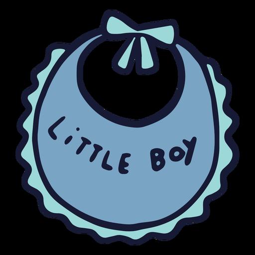 Babero plano de niño pequeño