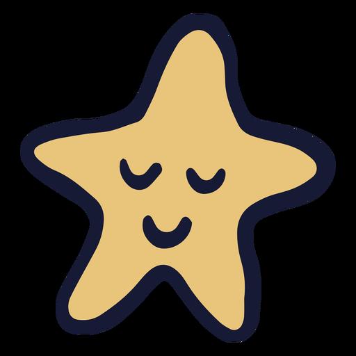 Juguete estrella feliz plana