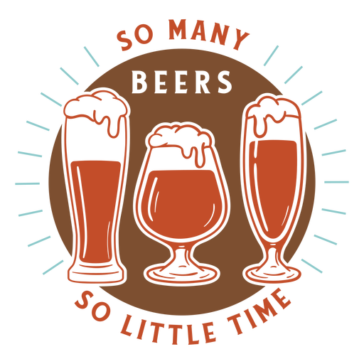 Many beers little time badge