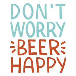 Beer happy lettering