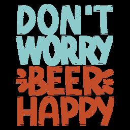 Letras de cerveja feliz