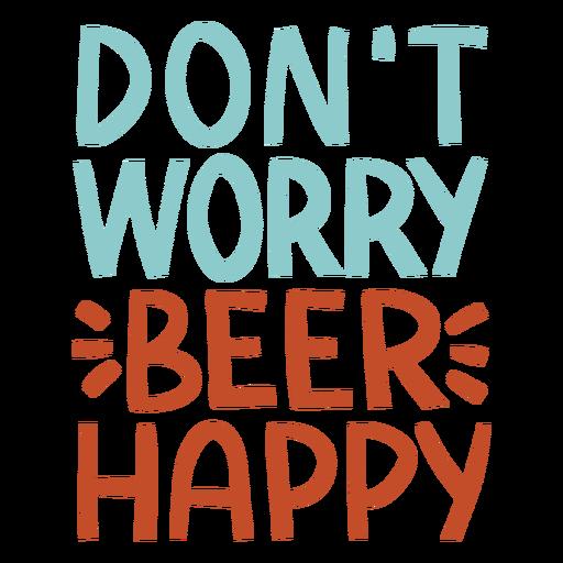 Beer happy lettering