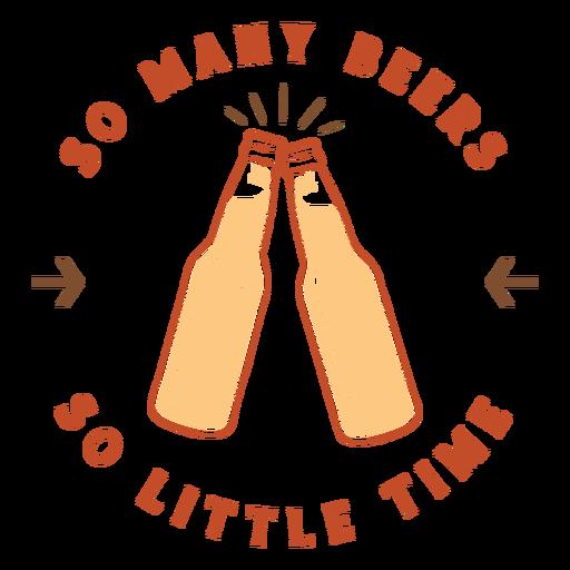 Insignia de tantas cervezas