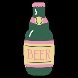 Botella de cerveza plana