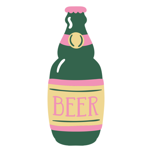 Beer bottle flat