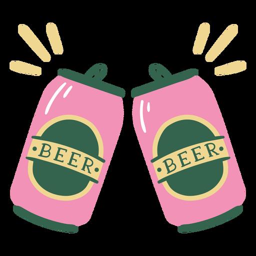 Celebración de lata de cerveza plana