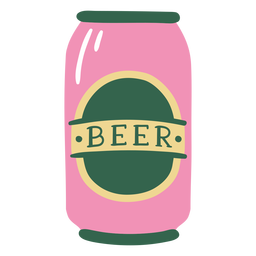 Flat beer can