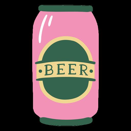 Lata de cerveza plana