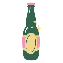 Flat beer bottle