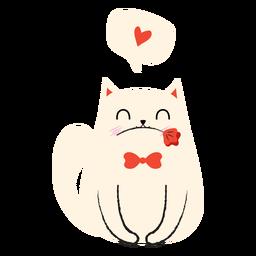 Love cat flat