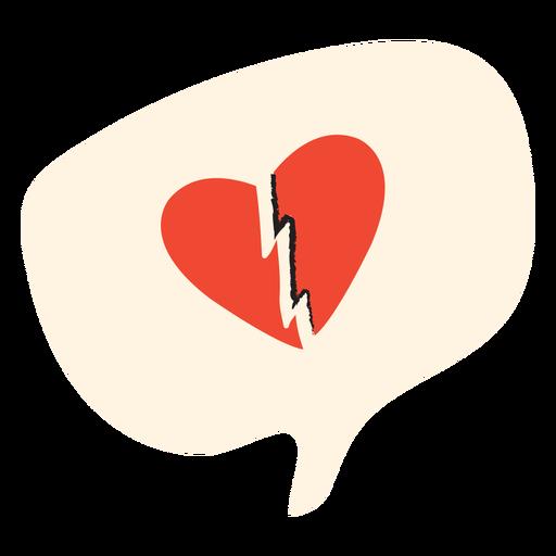 Globo de corazón roto plano
