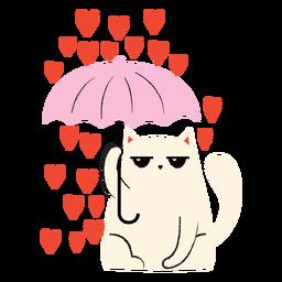 Cat heart rain flat