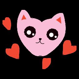 Heart-face cat flat