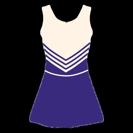 Girl's cheerleader uniform flat