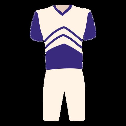Men's cheerleading uniform flat