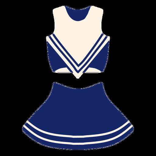 Girl's cheerleading uniform flat