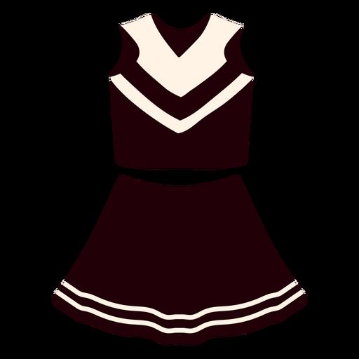 Cheerleader uniform girl flat
