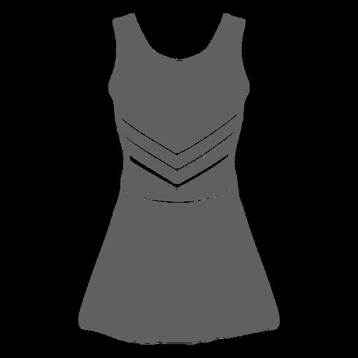 Girl's cheerleader uniform cut-out
